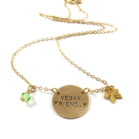 Vegan friendly necklace|שרשרת vegan friendly