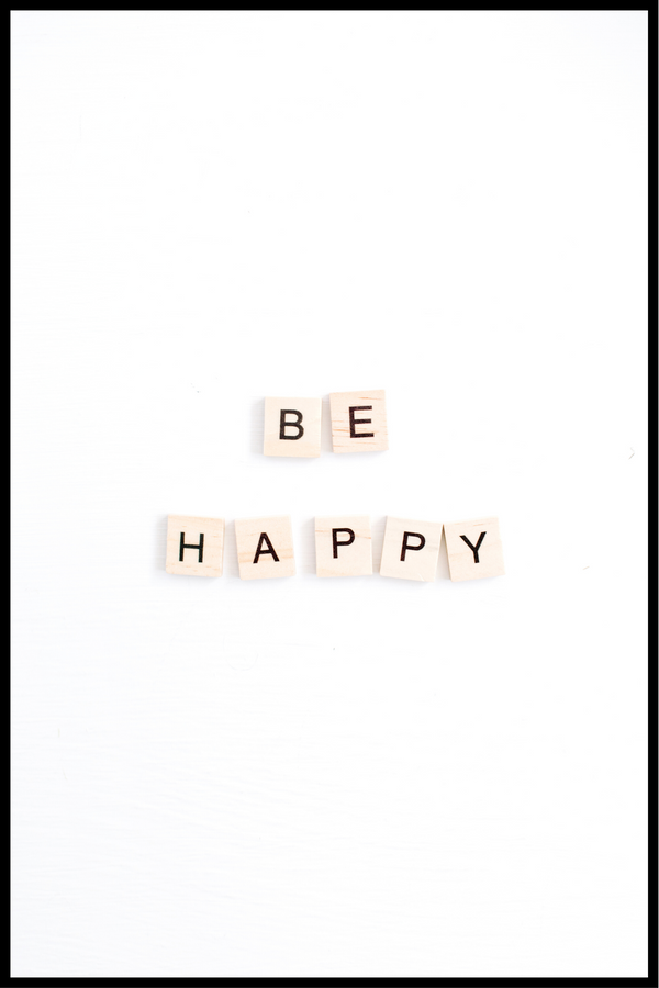 be happy plakat