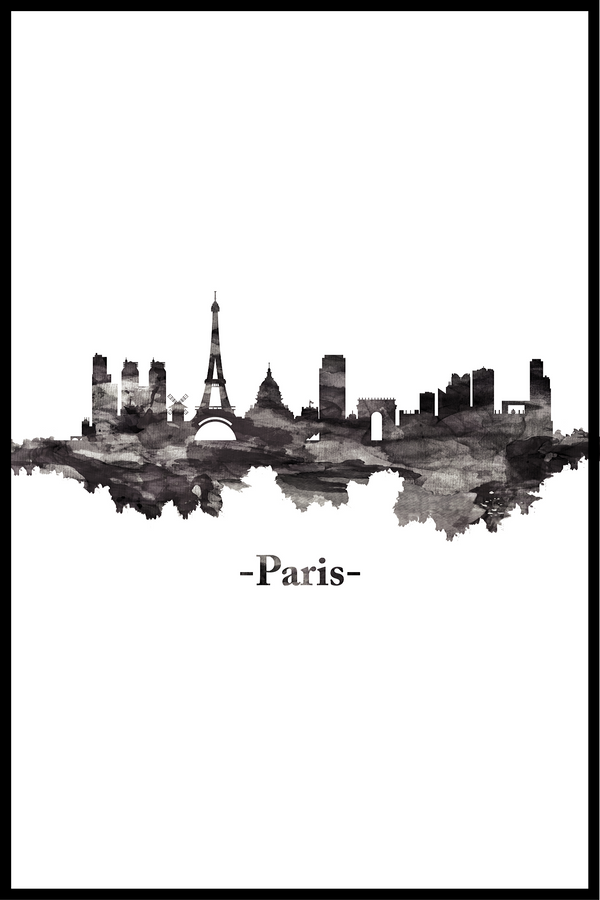 skyline paris plakat