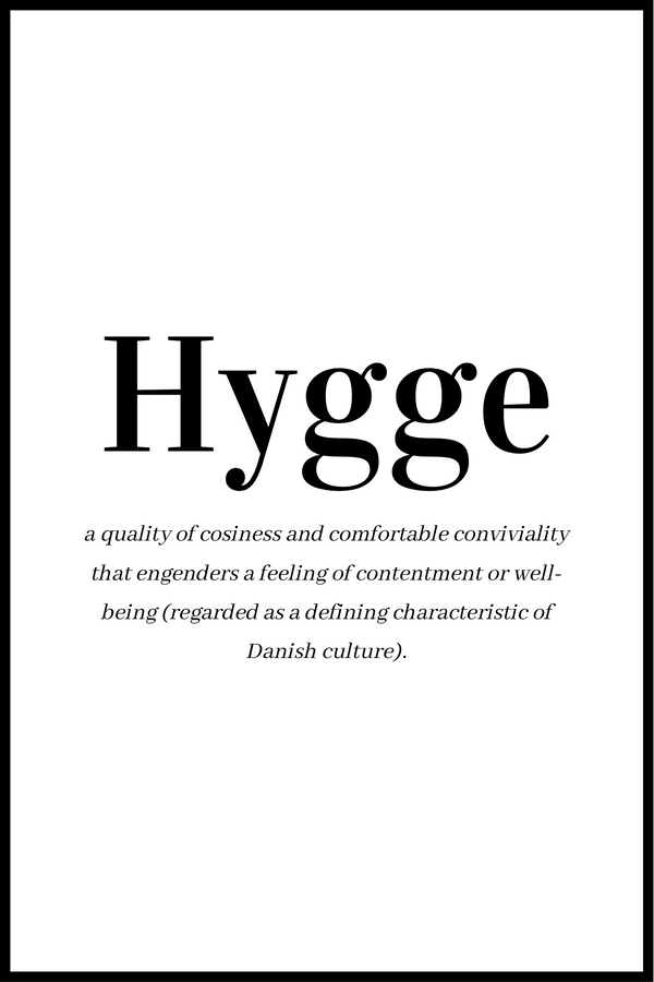 Hygge definition plakat