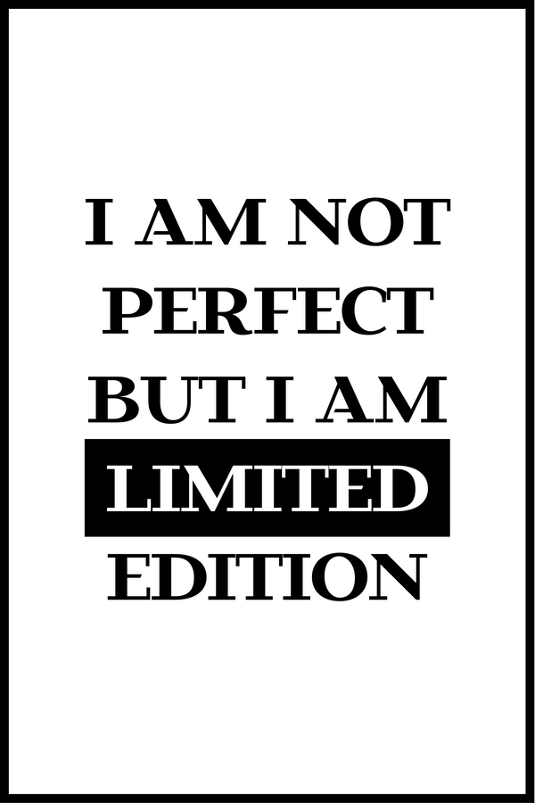 I am not perfect plakat