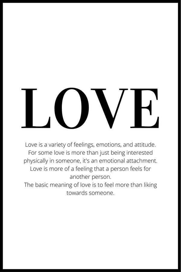 love definition plakat