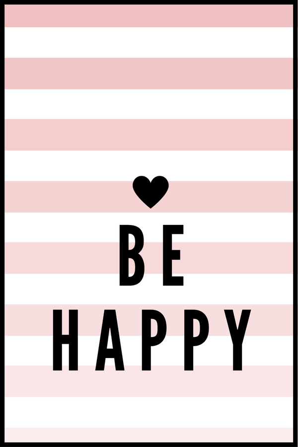 Be Happy Børneplakat