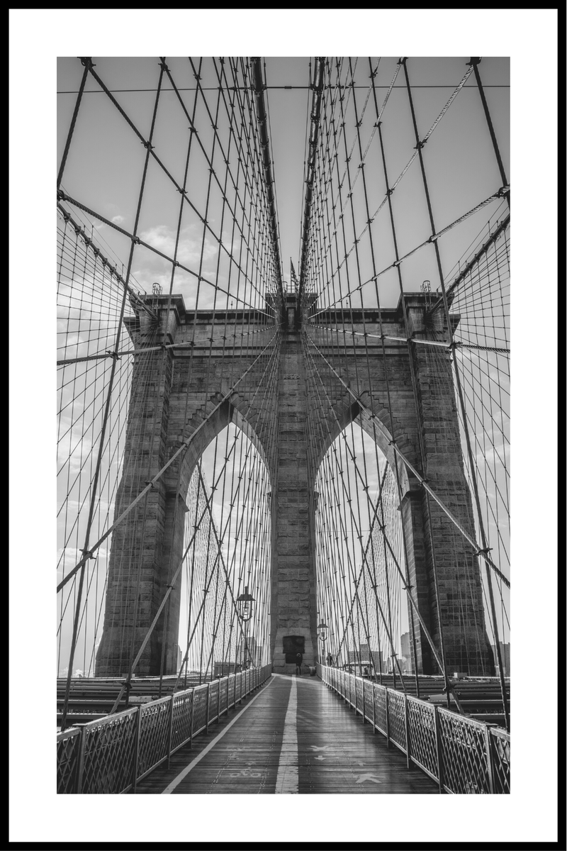 Brooklyn bridge sort/hvid plakat