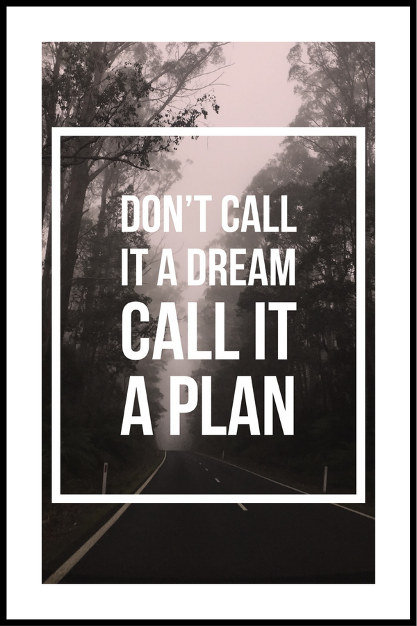 dont call it a dream plakat