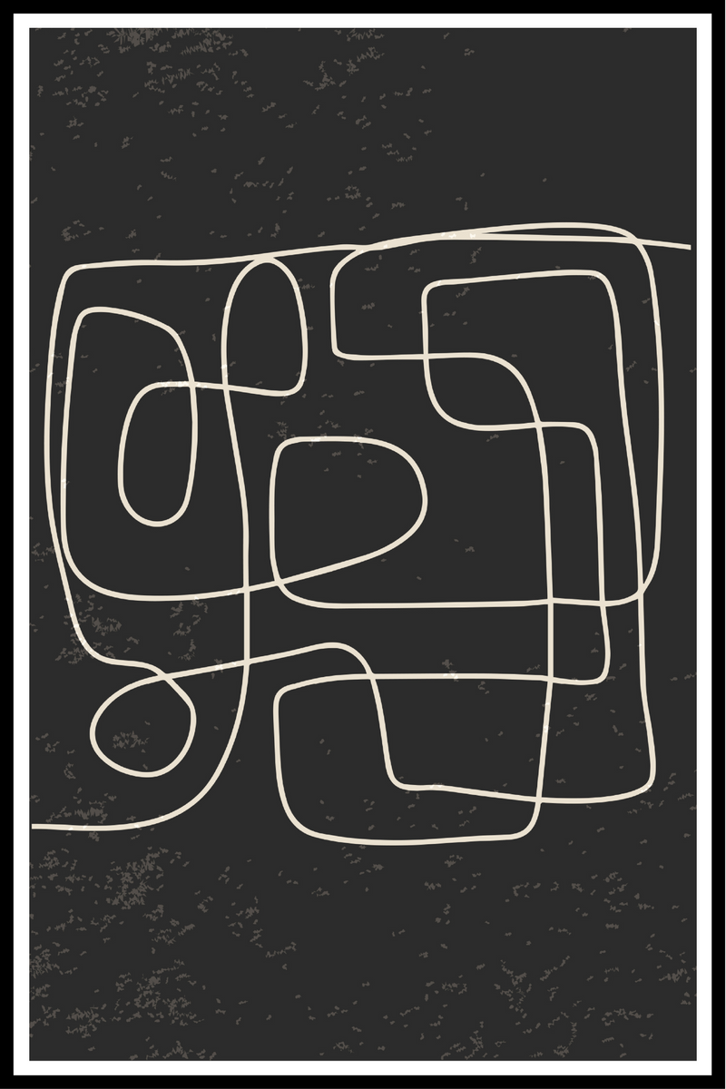 abstract lines no. 1 plakat