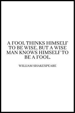 A Fool Think plakat