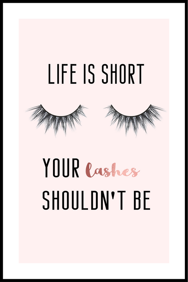 long lashes plakat