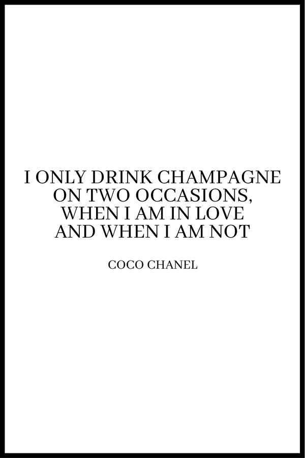 Drink champagne plakat