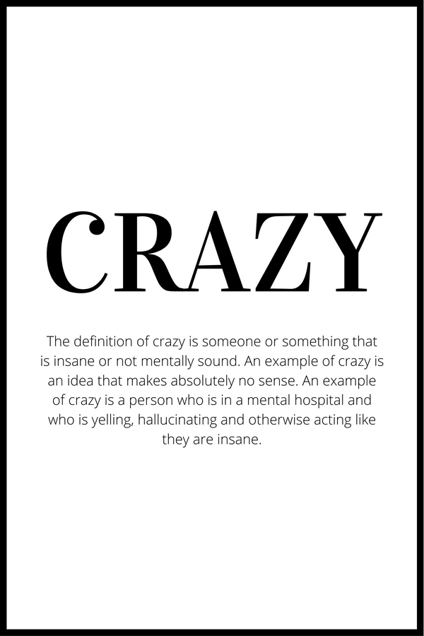 crazy definition plakat