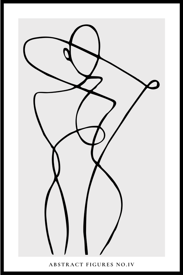 Abstract Figures no.IV plakat