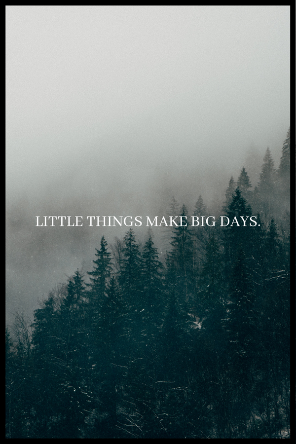 Little things make big days. plakat