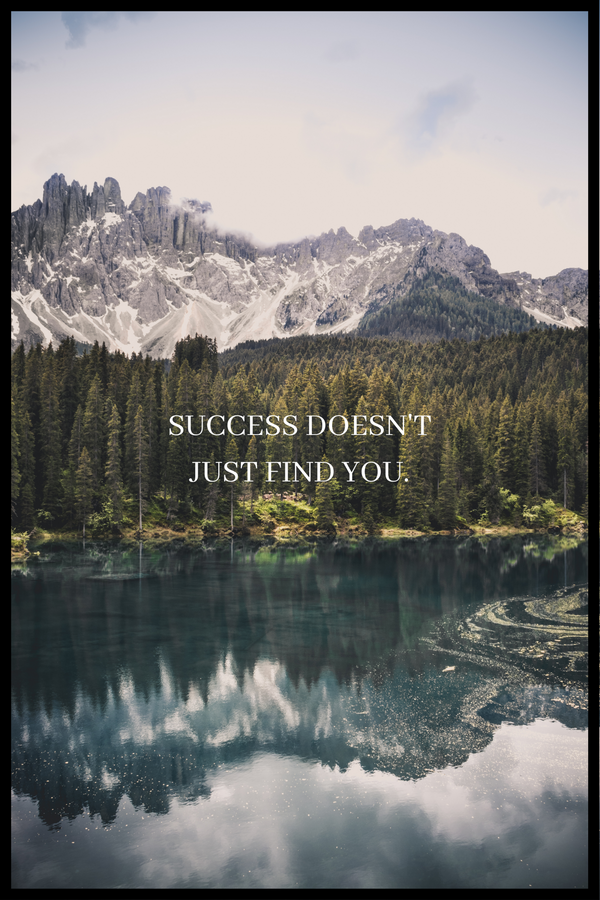 Success doesn't just find you plakat