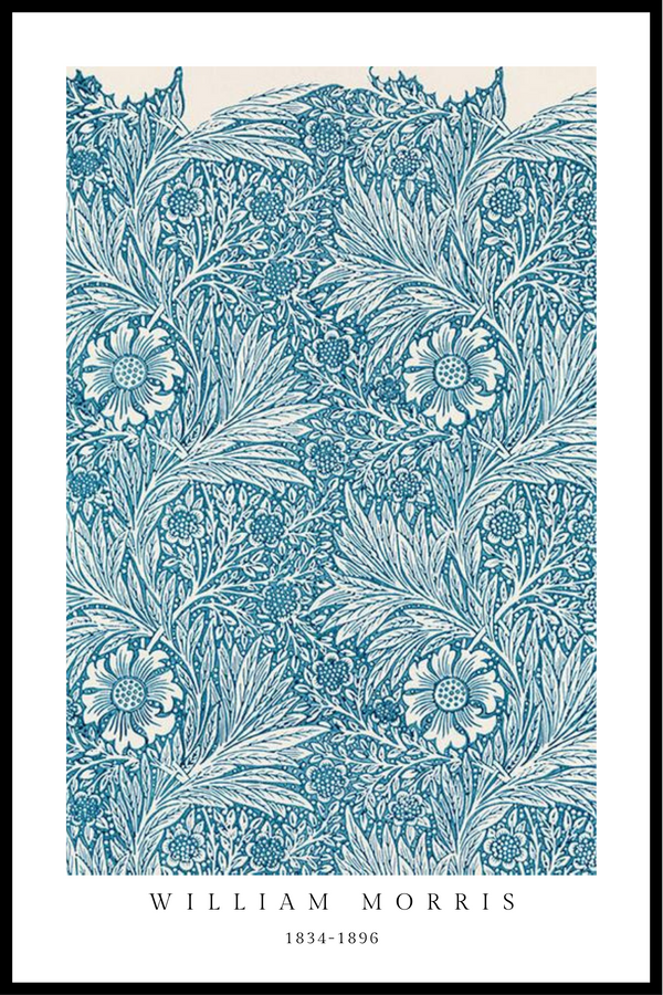 Botanical blue plakat