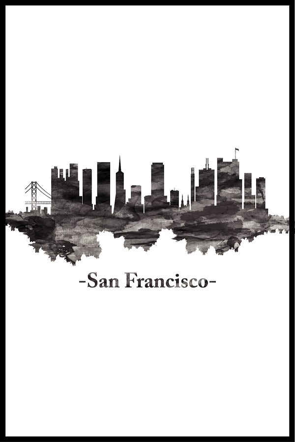 Skyline san francisco plakat