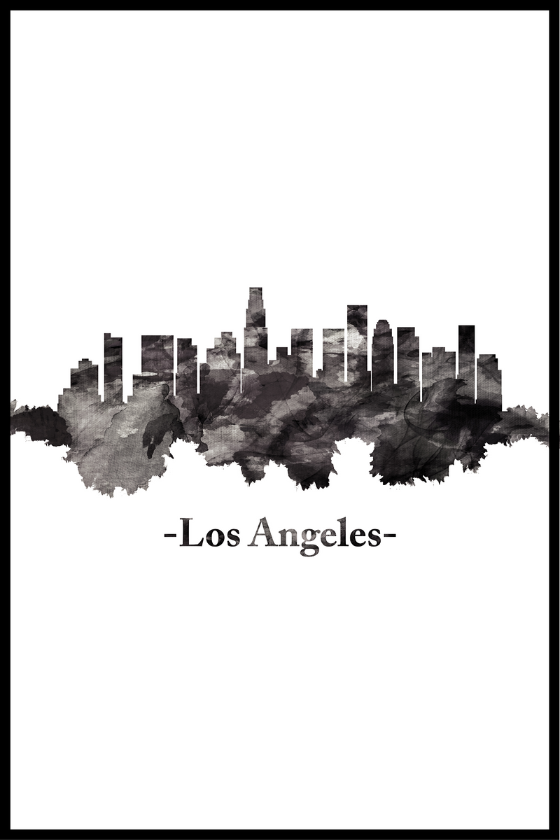 skyline los angeles plakat