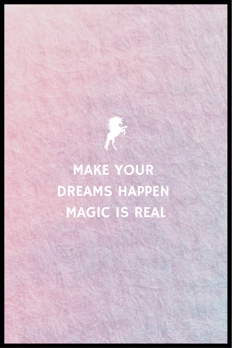 Magic is real plakat