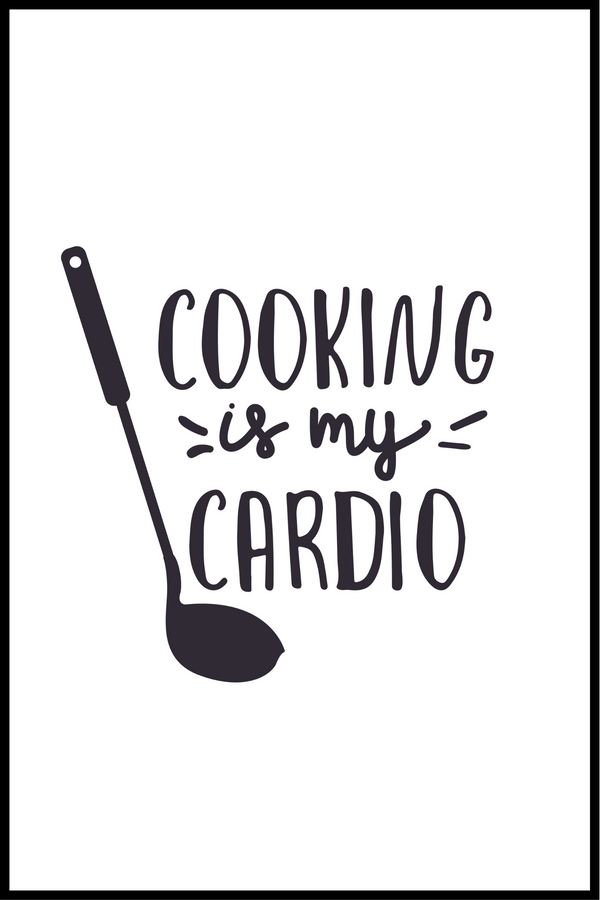 Cooking cardio plakat