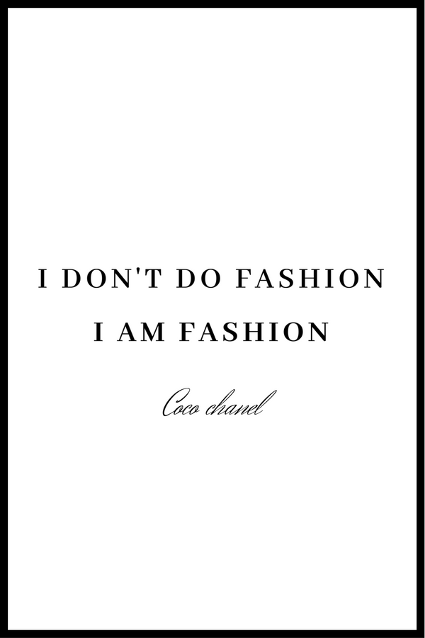I AM Fashion plakat
