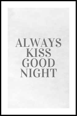kiss goodnight plakat