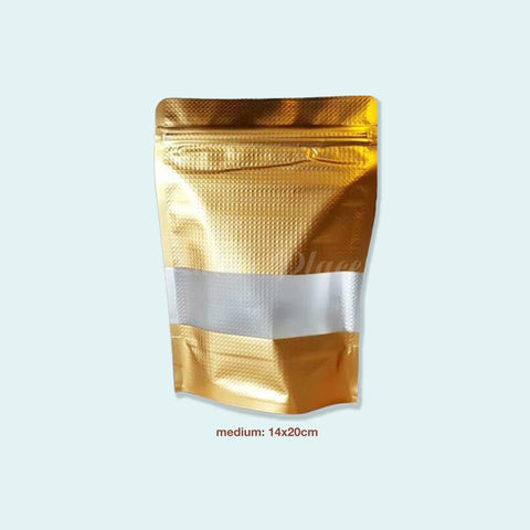 Gold Resealable Standing Pouch 10s
