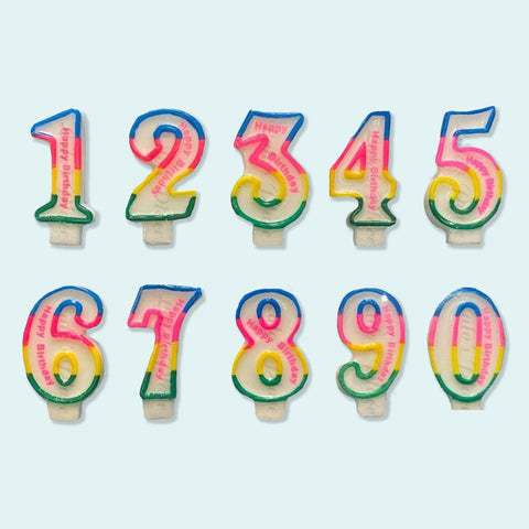 Colored Number Candles