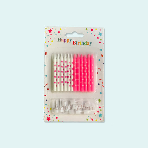 Dots Candle Pink 12s
