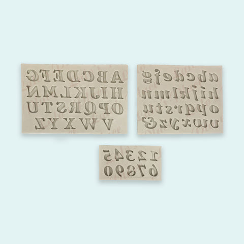 Silicone Alphabet & Number Silicone Mold Set