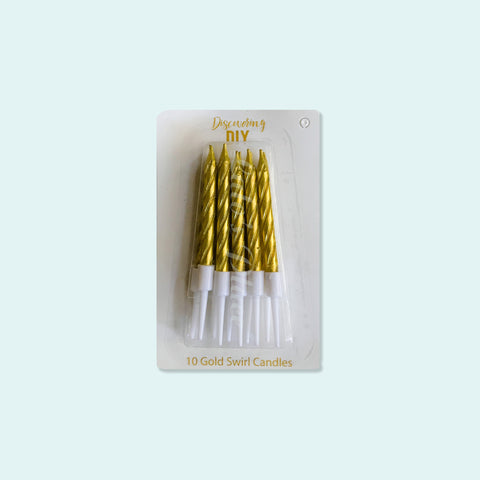 Spiral Candles Gold 10s