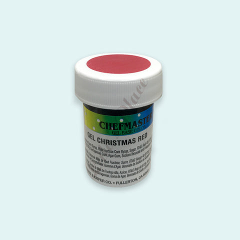 Christmas Red Chefmaster Gel Paste 1oz