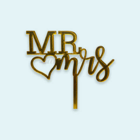 Mr & Mrs Acrylic Topper