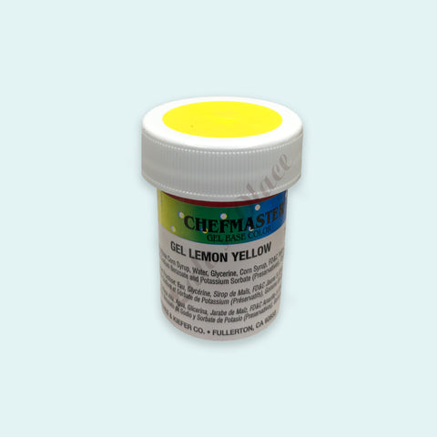 Lemon Yellow Chefmaster Gel Paste 1oz