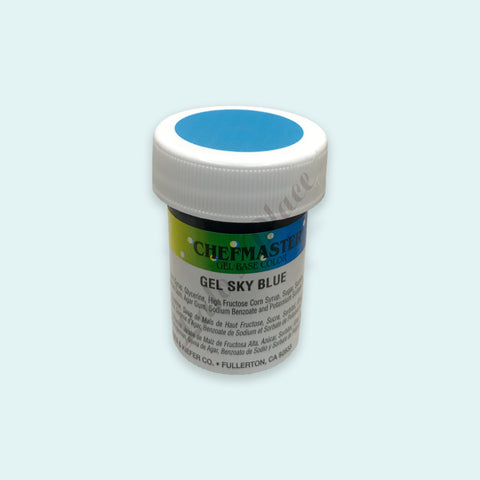 Sky Blue Chefmaster Gel Paste 1oz