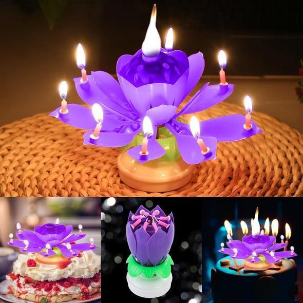 Magic Flower Birthday Candle Magic Flower Birthday Candle - AVAOASIS Purple