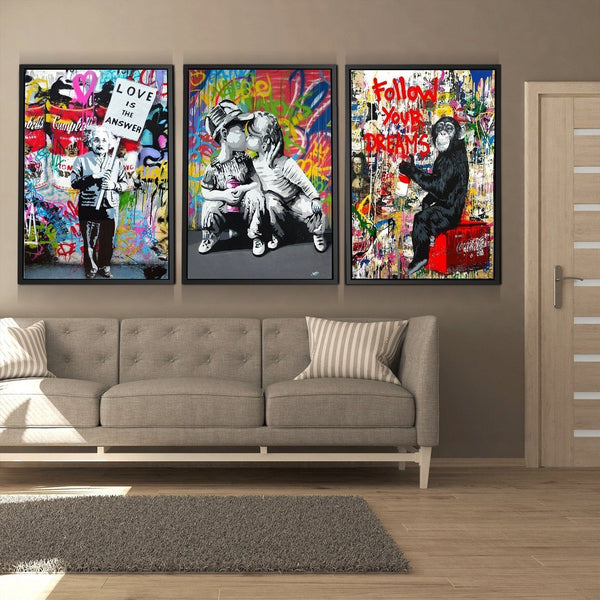 3 PIECE FOLLOW YOUR DREAMS GRAFFITI BUNDLE 3 PIECE FOLLOW YOUR DREAMS GRAFFITI BUNDLE - AVAOASIS1704 3* 20x30cm / 8x12""