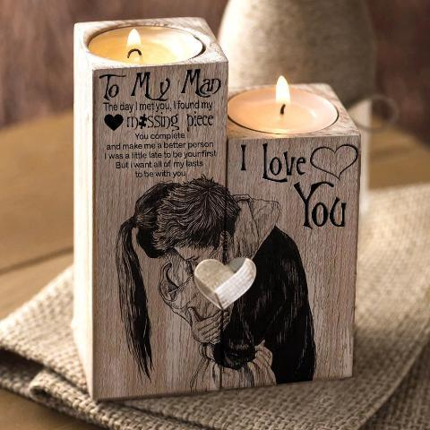 Special Edition To My Man Candle Holder by AvaOasis - Hug Lovers Special Edition To My Man Candle Holder by AvaOasis - Hug Lovers - AVAOASIS