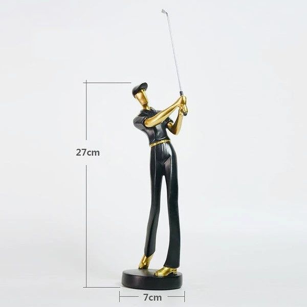 MODERN SWINGING GOLFER FIGURINES MODERN SWINGING GOLFER FIGURINES - AVAOASIS Mottled