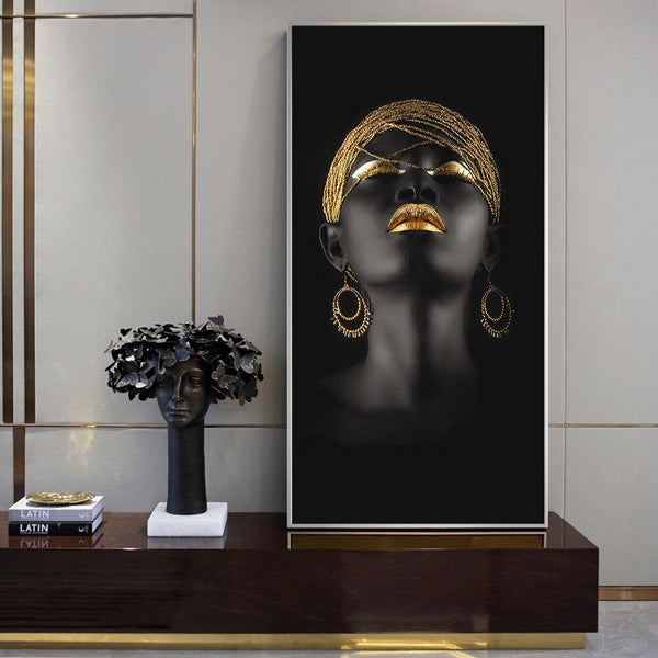 Stunning Aurum Lady - Canvas Wall Art Collection Stunning Aurum Lady - Canvas Wall Art Collection - AVAOASIS1704