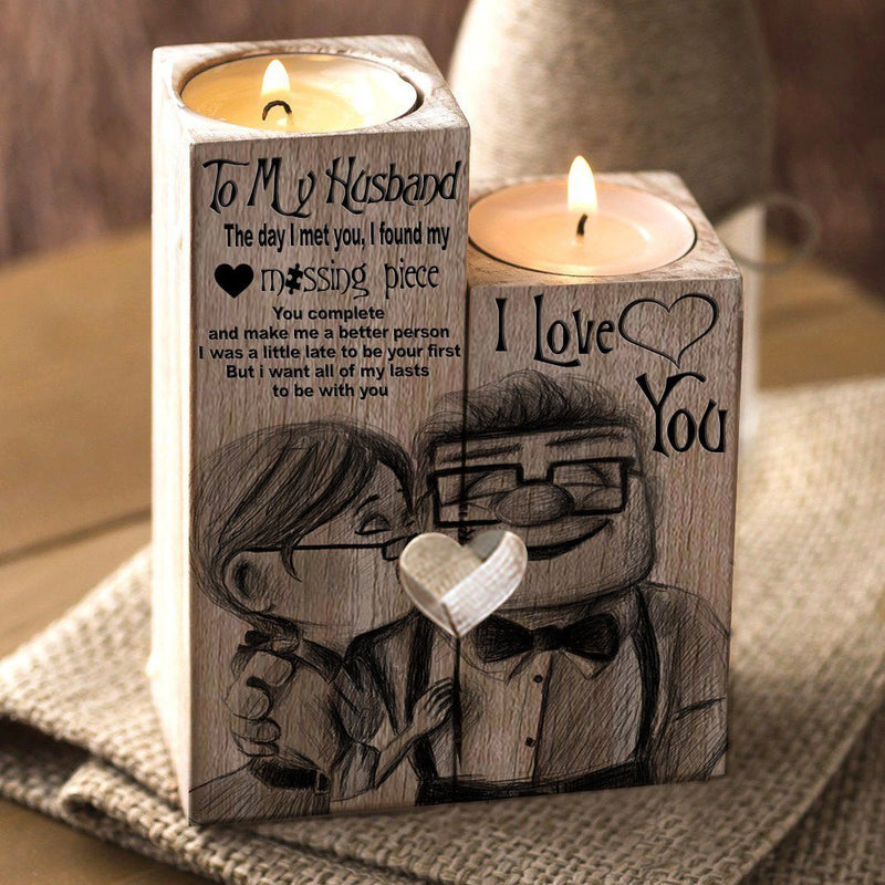 Special Edition To My Husband Candle Holder by AvaOasis - Carl & Ellie Fredricksen Special Edition To My Husband Candle Holder by AvaOasis - Carl & Ellie Fredricksen - AVAOASIS