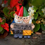 Growing Old Together Garden Gnome Growing Old Together Garden Gnome - AVAOASIS