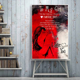 Girlfriend Canvas Wall Art Collection Girlfriend Canvas Wall Art Collection - AVAOASIS1704 20x30cm