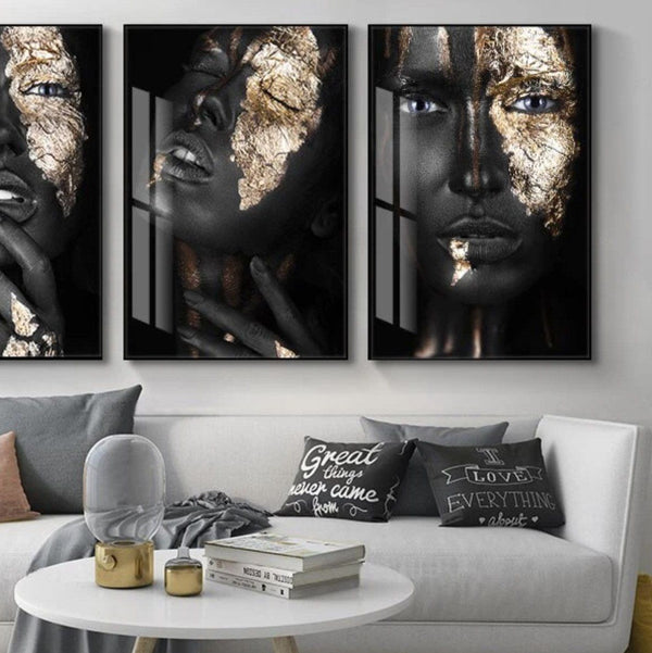Golden Lady Canvas Wall Art Collection Golden Lady Canvas Wall Art Collection - AVAOASIS1704