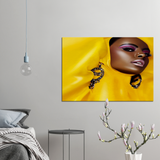 stunning Yellow Lady stunning Yellow Lady - AVAOASISPrint Material 70x100cm