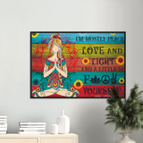 Peace Love Wall Art Canvas Wooden Framed Peace Love Wall Art Canvas Wooden Framed - AVAOASISPrint Material