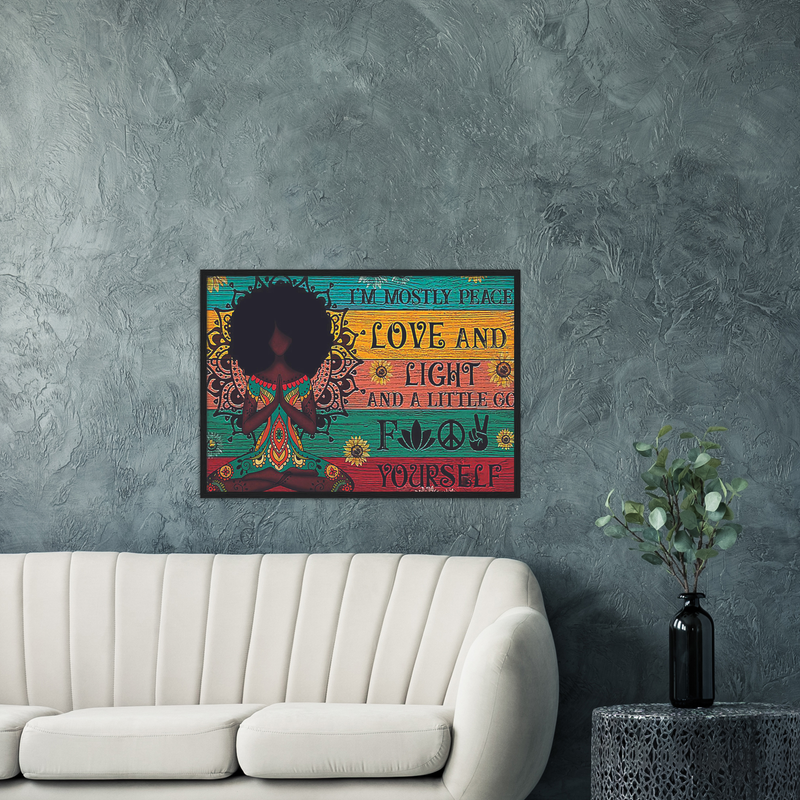 Stunning Peace Love Wall Art Canvas Wooden Framed Stunning Peace Love Wall Art Canvas Wooden Framed - AVAOASISPrint Material