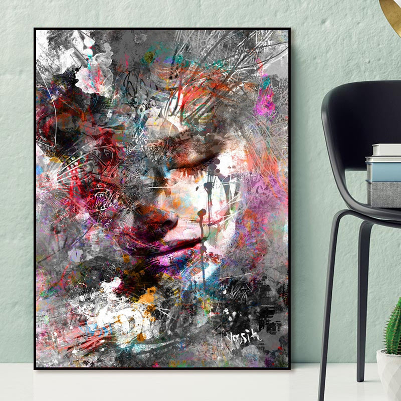"ABSTRACT GIRL WALL ART PRINT ABSTRACT GIRL WALL ART PRINT - AVAOASIS 20x30cm / 8""x12""inches"