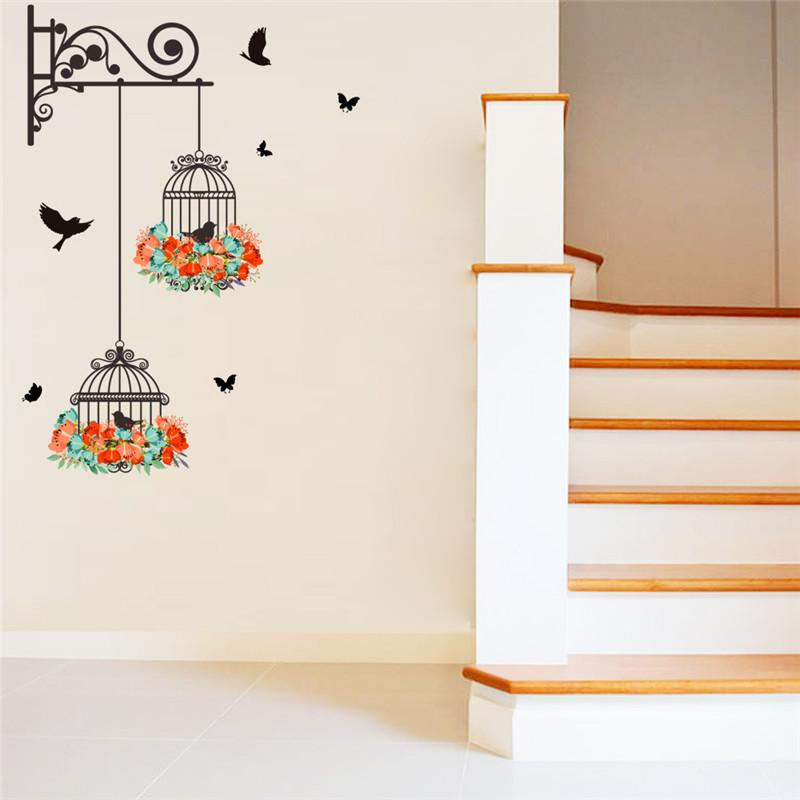 New Birdcage Wall Stickers Vinyl New Birdcage Wall Stickers Vinyl - AVAOASIS