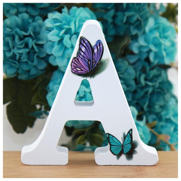 White Wooden Alphabet Letters DIY Words White Wooden Alphabet Letters DIY Words - AVAOASIS A / 10cm