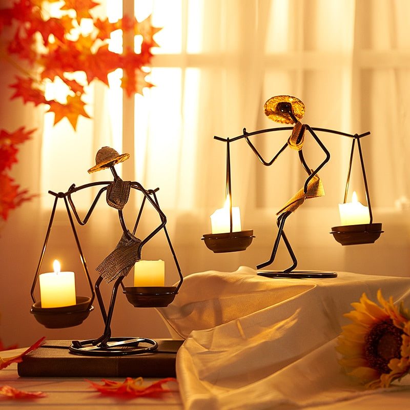 Vintage Metal Candlestick Home Decoration Handmade Candle Holde Vintage Metal Candlestick Home Decoration Handmade Candle Holde - AVAOASIS