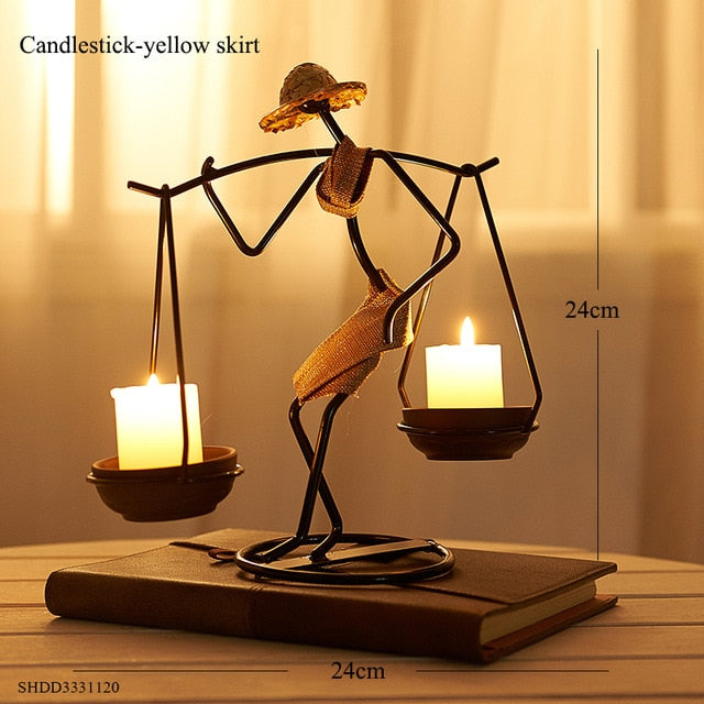 Vintage Metal Candlestick Home Decoration Handmade Candle Holde Vintage Metal Candlestick Home Decoration Handmade Candle Holde - AVAOASIS Jennifer